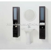 Настенная деревянная ванная комната
