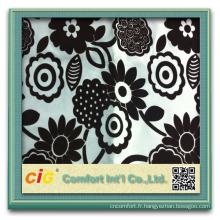 Tissu de canapé design floquant 100% polyester design CIG FF