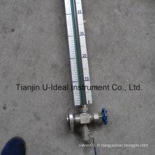 Indicateur de niveau tubulaire en verre simple et bon marché