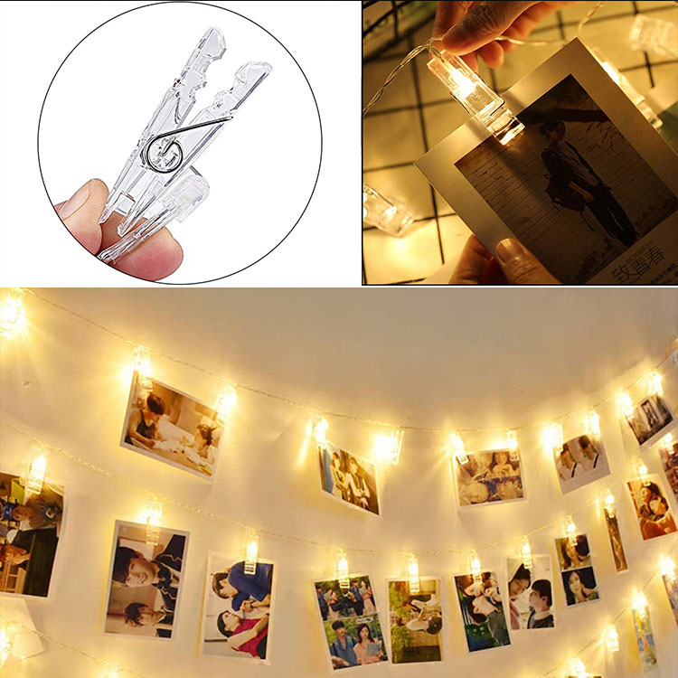 photo clip led string fairy lights