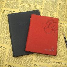 Journal de livre de papier de diagramme de PU / journal réutilisable en cuir