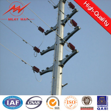 10m 5kn Steel Galvanized Electric Pole for Ghana Distribution Line