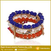 Excellente qualité nouveau design bracelets et bracelets Charm Bracelet en perles