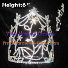 6inch Flower Unique Crystal Pageant Crowns