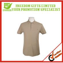 Cotton Tennis Shirt mit bedrucktem Logo für Promotion