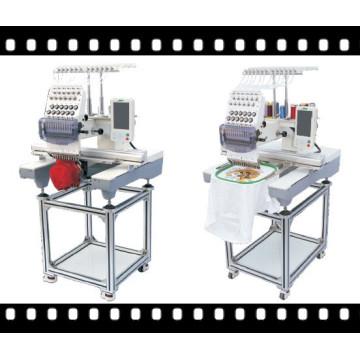 Machine de broderie à tête unique commerciale pour capuchon, t-shirt et broderie plate