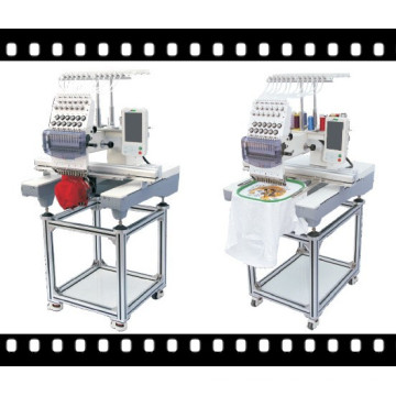 Commercial Single Head Embroidery Machine for Cap, T-Shirt and Flat Embroidery