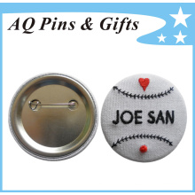 Emblema profissional do botão do bordado do fabricante (botão badge-50)
