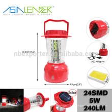 Азия Лидер Продукты BT-4863 ABS 24 SMD LED Солор кемпинг свет