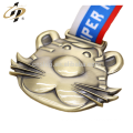 Free sample bronze zinc alloy custom 3D mini sports trophies and medals from china