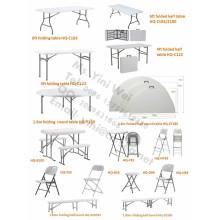 122cm. Table pliante de 183 cm pour le dîner