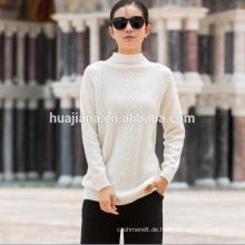 Frau Kaschmir weißen Pullover