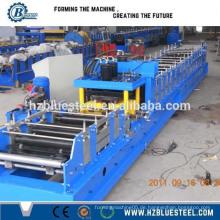 Hochwertige vollautomatische CZ Purlin Roll Umformmaschine / Metall Dach Verwendung Changable Größe C Kanal Traversen Roll Forming Machine