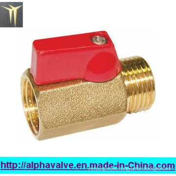 "3/8""-1/2""Female X Male Brass Mini Ball Valve (a. 0129)"