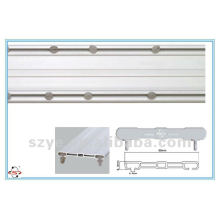 SDC02 plástico doble ventana pista PVC pista plástico cortina barra