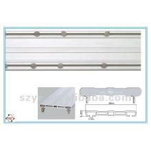 SDC02 plastic double window track PVC track plastic curtain rod