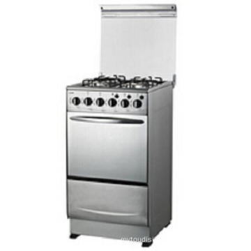 Full Stainless Steel Cooking Range with Oven and Glass Lid