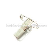 Clipe de segurança do clipe do emblema do metal da alta qualidade da forma