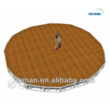 Fabricante de Shanghai peso leve palco móvel para venda portátil palco de concerto ao ar livre heavy duty estágio portátil
