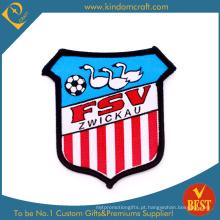 Remendo vermelho feito sob encomenda do bordado do jogo de futebol das tiras verticais (LN-0164)