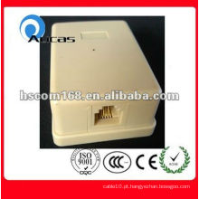 2013 Single Port rj11 6p Gel-cheio telefone Wall Jack
