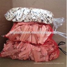 Лено тканые, мешки и вязаная сетка сумки для дрова и упаковке овощей