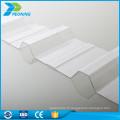 Vente en gros de revêtements en polycarbonate ondulé en plastique transparent prix à bas prix
