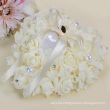 Almohadilla hermosa del portador de anillo de la alta calidad de la decoración del banquete de boda