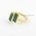 Wholesale Supplier For Green Onyx Ring, 18k Gold Onyx Gemstone Rings Jewelry