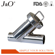 Sanitary Y Strainer Filter with Welding Stainless Steel Strainer