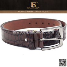 Perfect latest design high quality crocodile leather belt