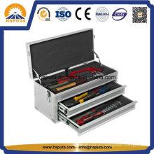 Pecho de herramienta portátil de aluminio con 2 cajones (HT-1227)