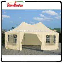 Pop up tentes de fête de mariage avec gazebo en tissu imperméable à l'eau de jardin de fenêtre