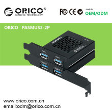 ORICO PASMUS3-2P PCI Express zu USB3.0 Expresscard, PCI-E TO USB 3.0 Karte, Low Profile PCI Panel kostenlos