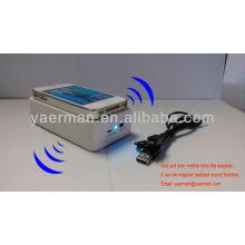 Induction mobile speaker,dual mini sound box speaker
