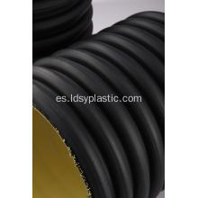 China negro HDPE doble pared corrugado tubo, fabricante de