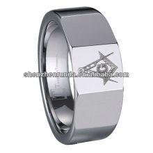 Nouveau produit 2014 Tungsten Masonic Rings laser Ring Fabricant et fournisseur et exportateur
