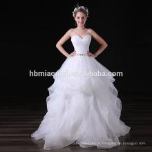 Frisado Até o Chão Branco Puffy Ruffle vestido de Baile Vestido de Noiva Taobao Vestido de Noite