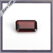 Octagon Emerald Cut Natural Garnet Gemstone para Presente
