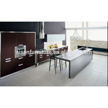 Modern Italian Design Natural Wood Veneer kitchen cabinet Popular for Canada Market
