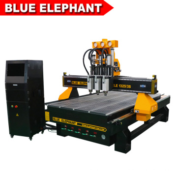 ELE 1325 3 spindles cnc router furniture carving machine with promotion price