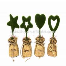 decoración de madera de madera petrificada decoración de colgante de la feliz navidad carta