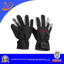 Moda dedo doblado neopreno guantes al aire libre (67851)