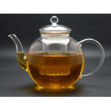 Glass Tea Pot with Handle, 1.1L Glass Tea Pot (GT003)