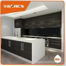 Gabinete de cozinha de madeira de folheado moderno e garantido de qualidade