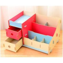 Soporte de bolsa de dormitorio, soporte de escritorio de madera creativo al por mayor de la bolsa
