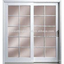 Revestido de madera lujo exterior madera puertas corredizas de vidrio granero