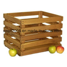 1/2 Peck gebeizt Holz natürliche Kiste