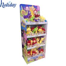 estante de exhibición del piso de la cartulina acanalada para el soporte del estante de exhibición de los juguetes de la felpa