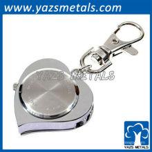 2013 nouveaux porte-clés en forme de coeur en métal